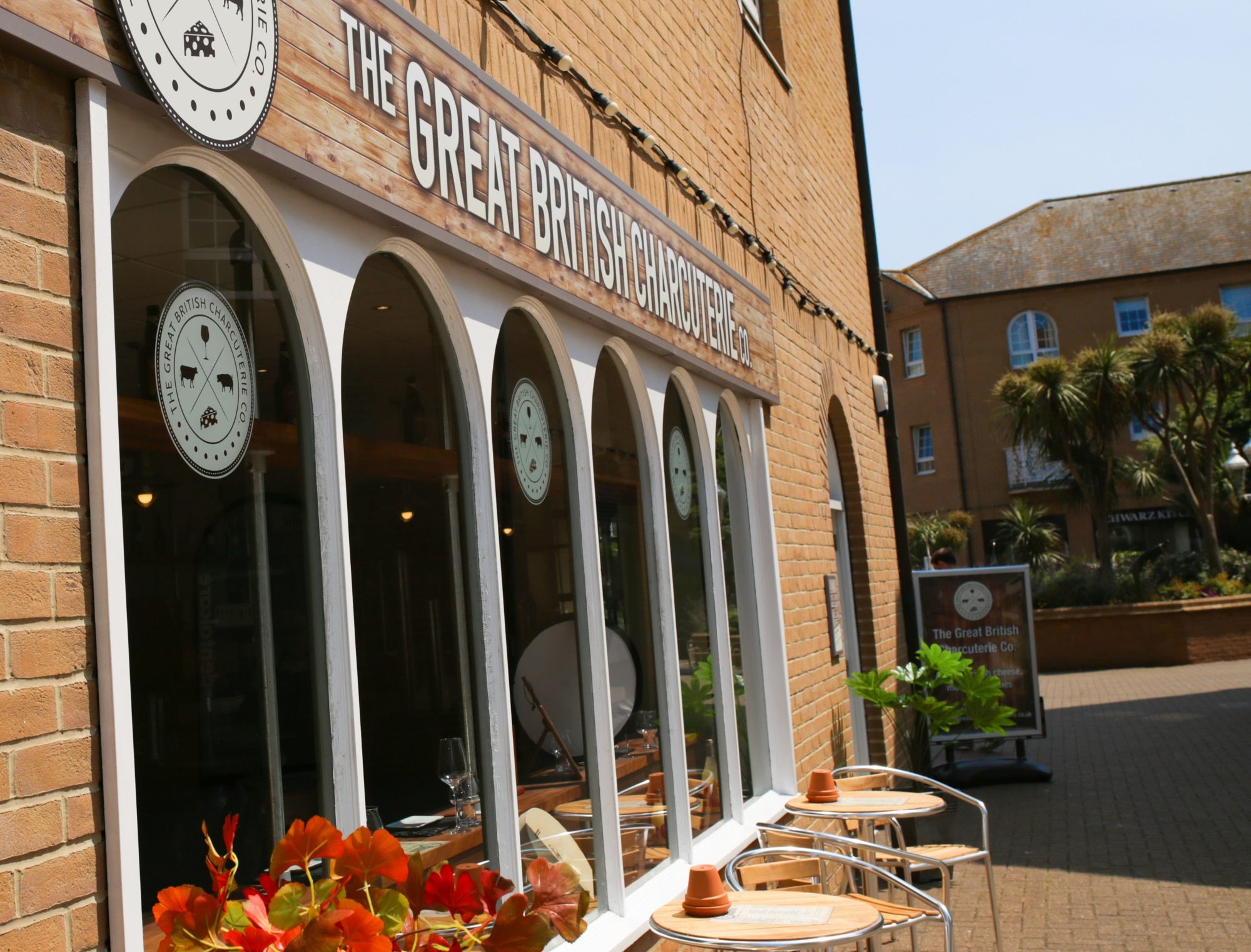 outside of GB Charcuterie - Brighton Marina