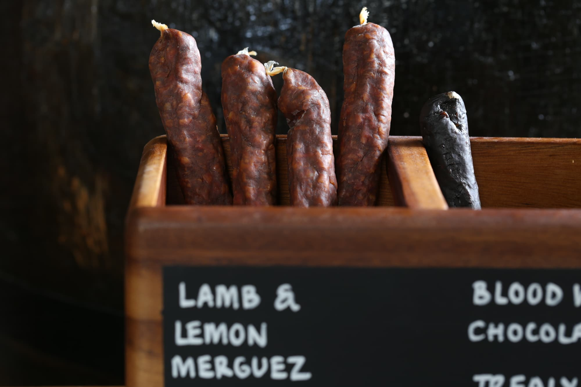 Beer sticks and salami at Great British Charcuterie