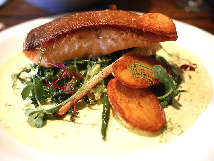 Main salmon, The Better Half, Hove, food pub