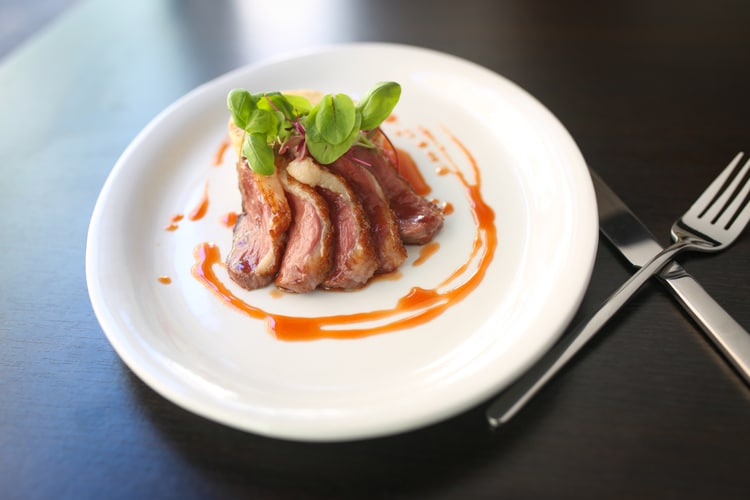 Duck at Petit Pois