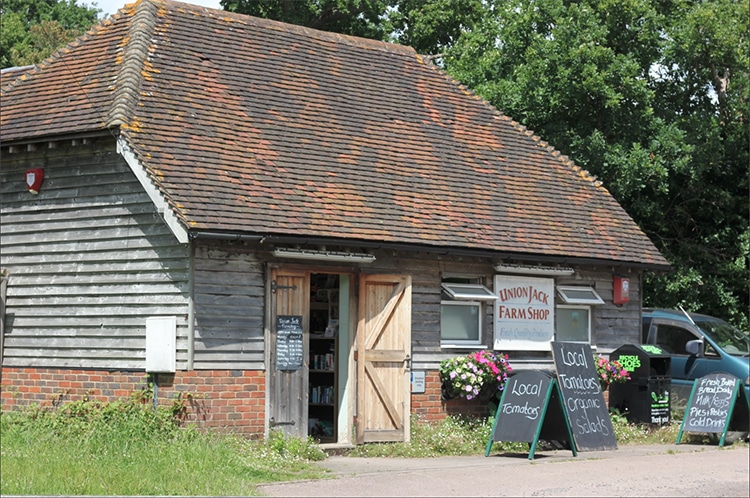 Union Jack Farm Shop, Sussex countryside, photo credit Sussex Food Quest