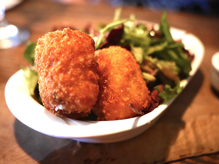Starter goats cheese croquettes, The Better Half, Hove, food pub