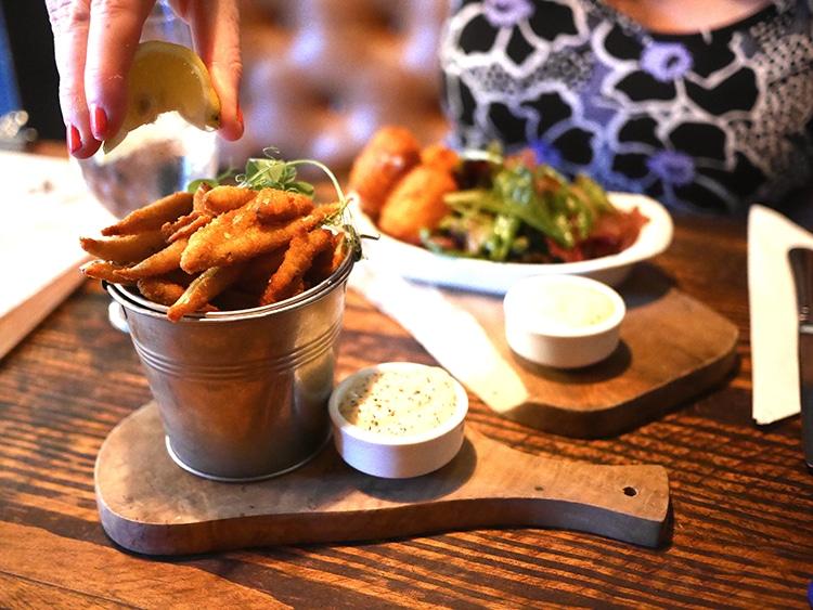 Starter whitebait, The Better Half, Hove, food pub