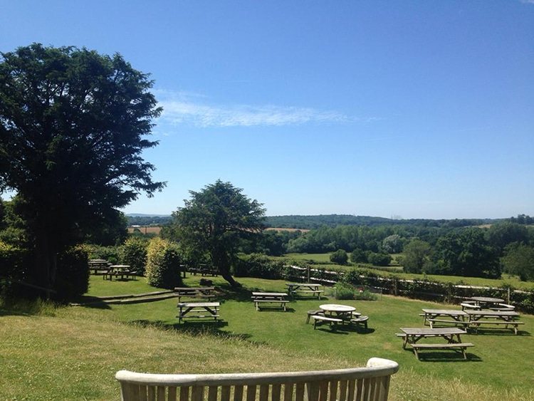 Best Restaurants in Sussex, Giffin Inn outside seating with views