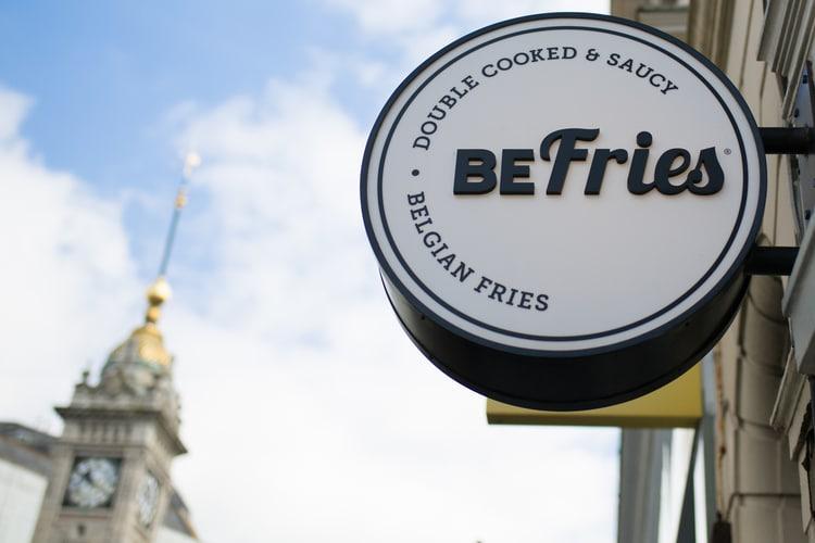 sign at befries