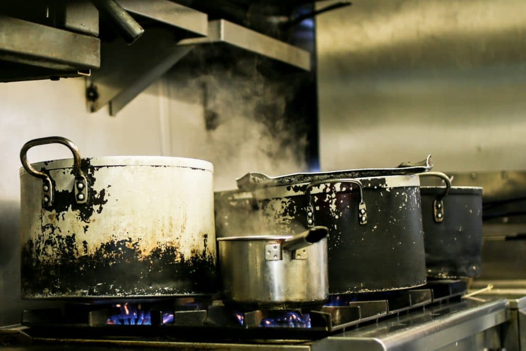 Pots and pans in the kitchen - Brighton Chef's Table