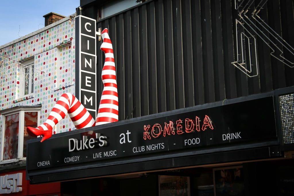 Restaurants with Entertainment, Dukes at Komedia, Brighton