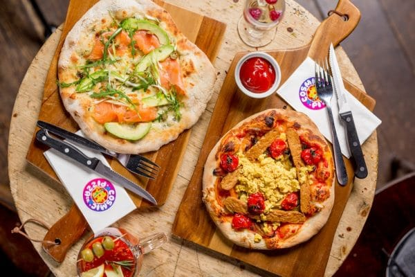 Breakfast Pizza - Cosmic Pizza Brighton
