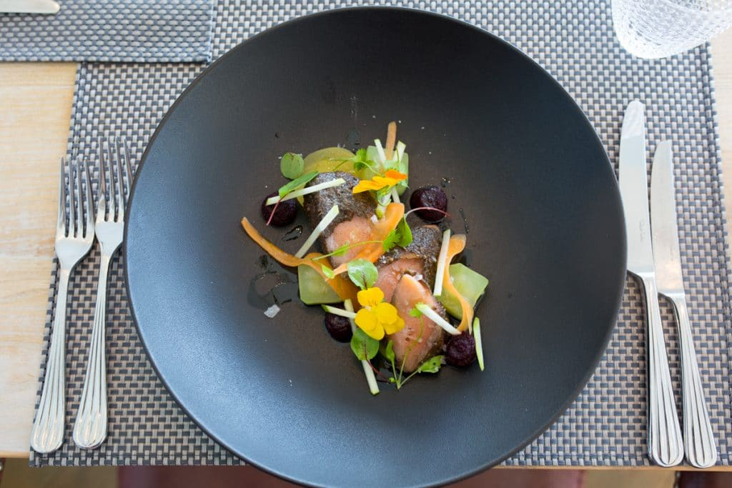 Salmon Pastrami at the GB1 Restaurant - Book a table, make a reservation with a Brighton restaurant