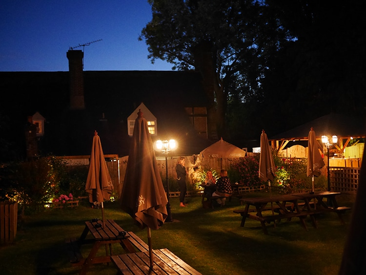 Rose & Crown garden, food pub review, Cuckfield, Sussex