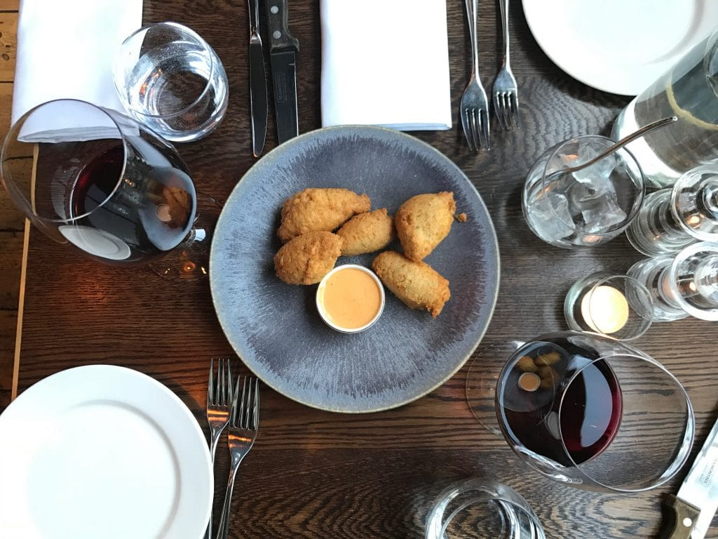 Crab Fritters at the Coal Shed Brighton