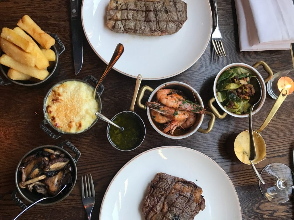 Steak and sides at The Coal Shed Brighton