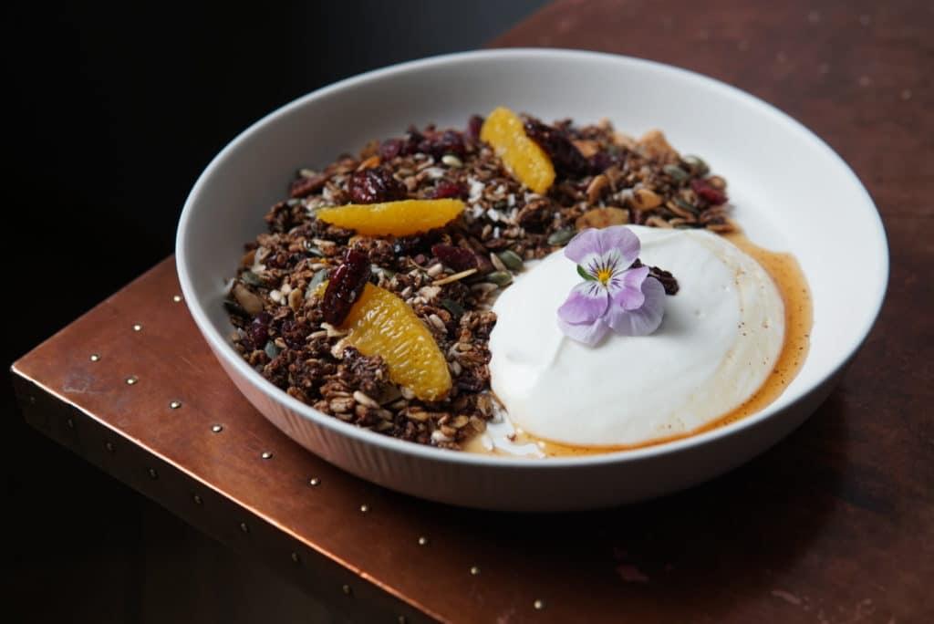 A bowl of Rooibos Granola