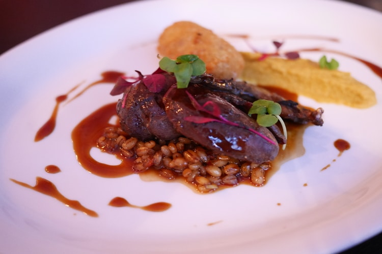 wood pigeon at petit pois