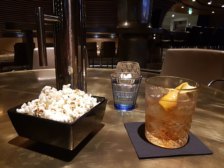 Merkaba, Old Fashioned cocktail, popcorn, drink review, bar,