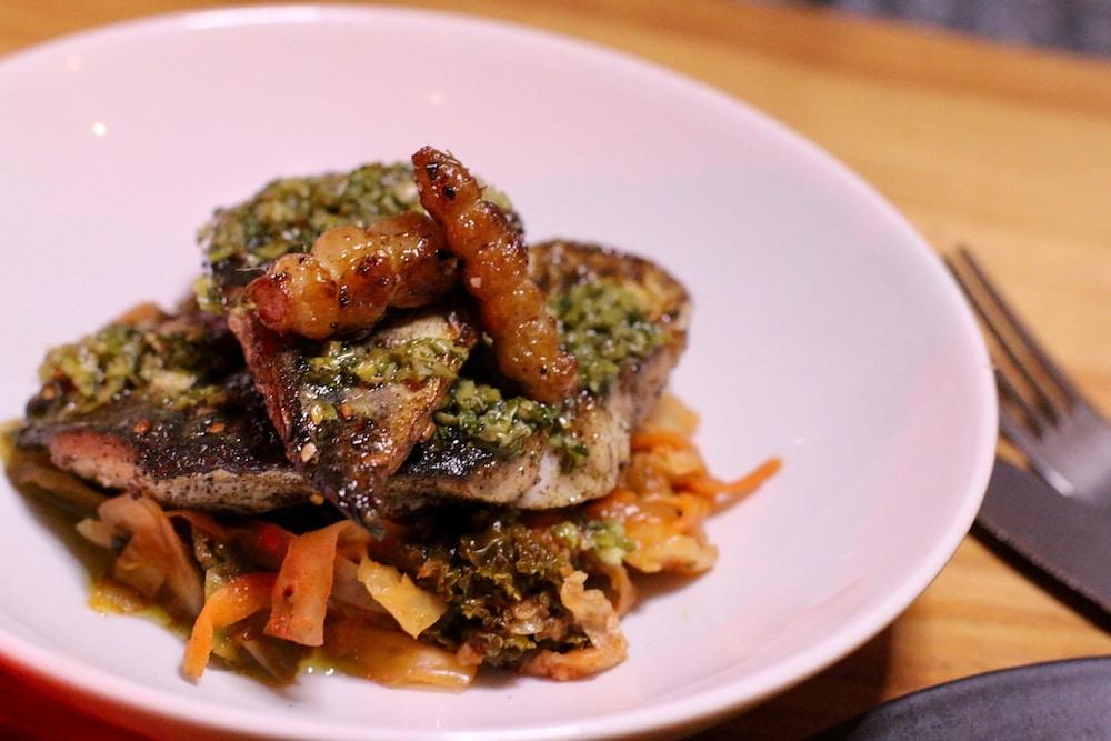 mackerel fillet with kimchi at Mange Tout Brighton - Mange Tout review