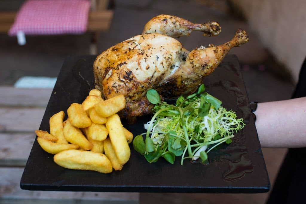 Chicken platter at Old Bank Brighton