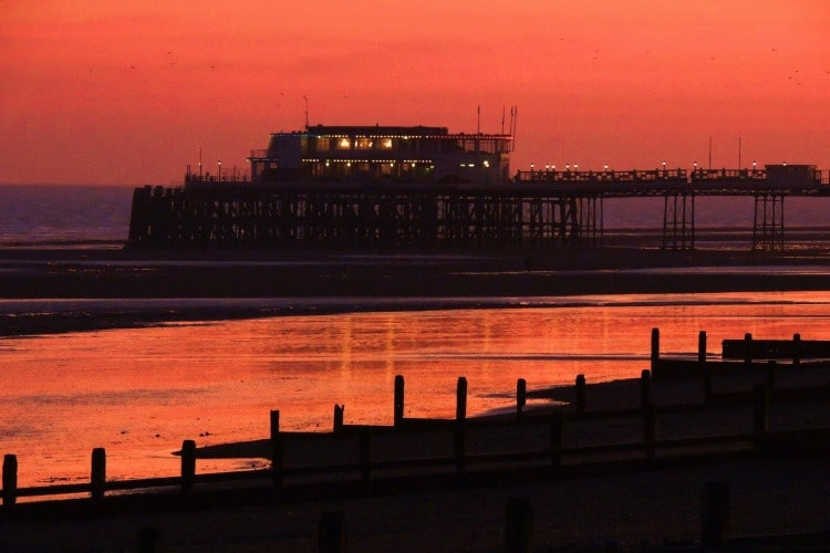 Worthing Pier at Sunset, by Worthing Journal - Worthing Restaurants