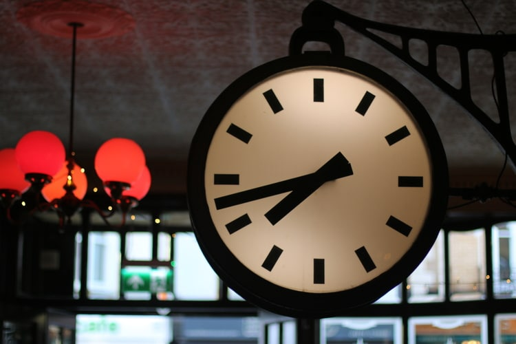 clock decor at the old albion