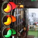 traffic light decor at the old albion