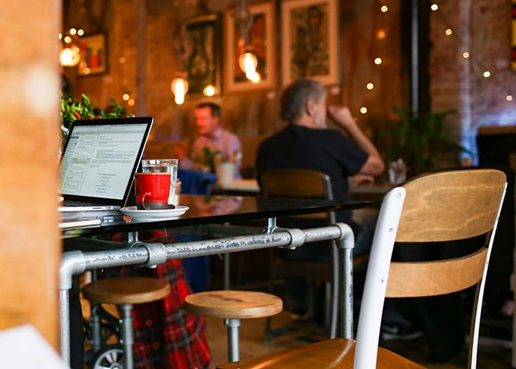 Cafés & Coffee Shops with Wi-Fi, working at Cafe Plenty in Brighton