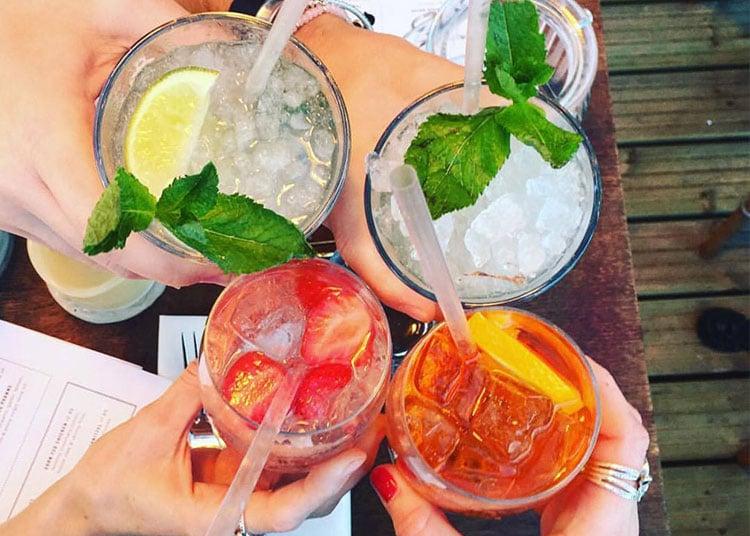 Cocktails at Coppa bar & restaurant, Brighton