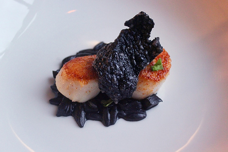 scallops, seafood, risotto, Hove, fine dining, restaurant, Etch