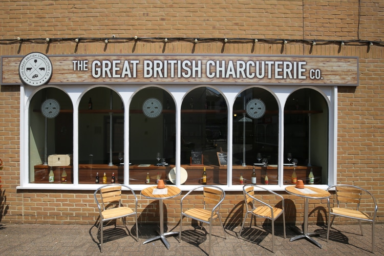 Outside at Great British Charcuterie