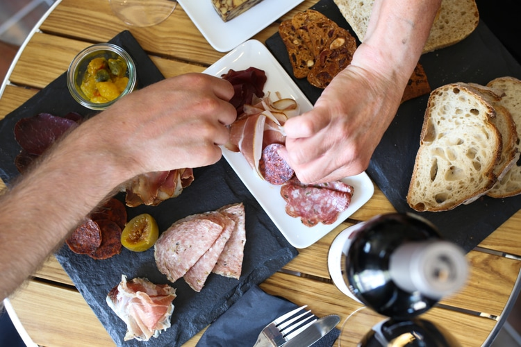 Sharing platters at Great British Charcuterie