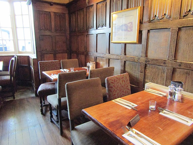 Chairs and tables at The Plough Inn