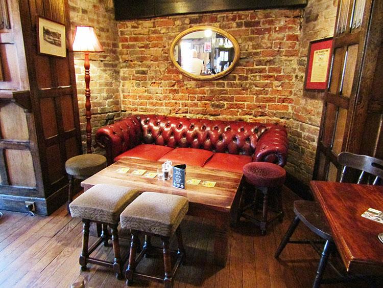 Comfy sofa at The Plough Inn
