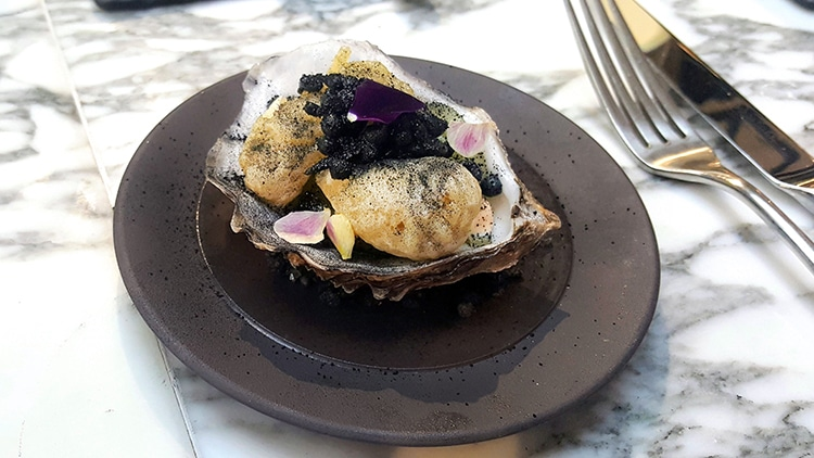 evening review, fine dining, oyster, Pike and Pine, Brighton restaurant