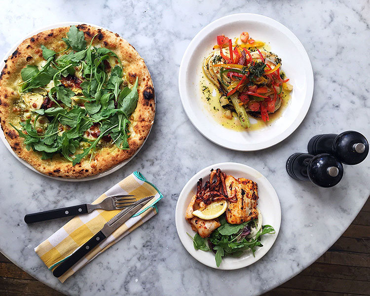 Pizza East Brighton - Pizza East at Soho House, food and salad