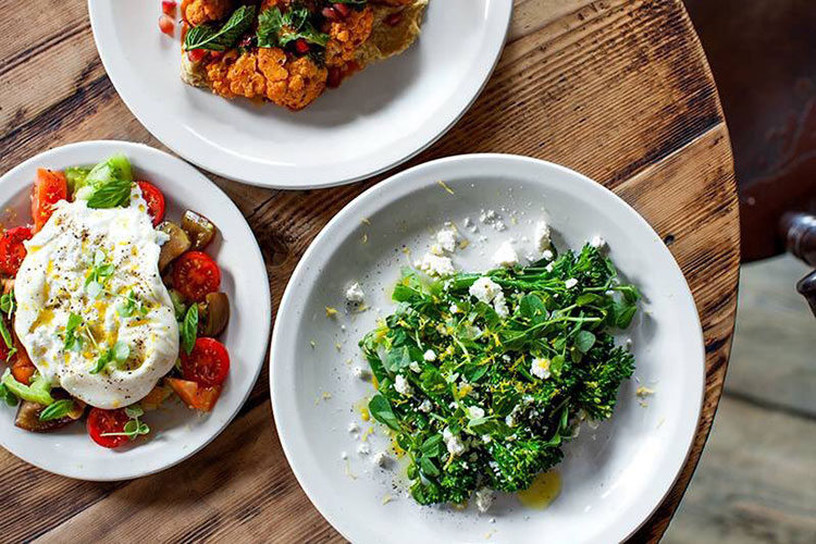 Soho House, Pizza East salad dishes