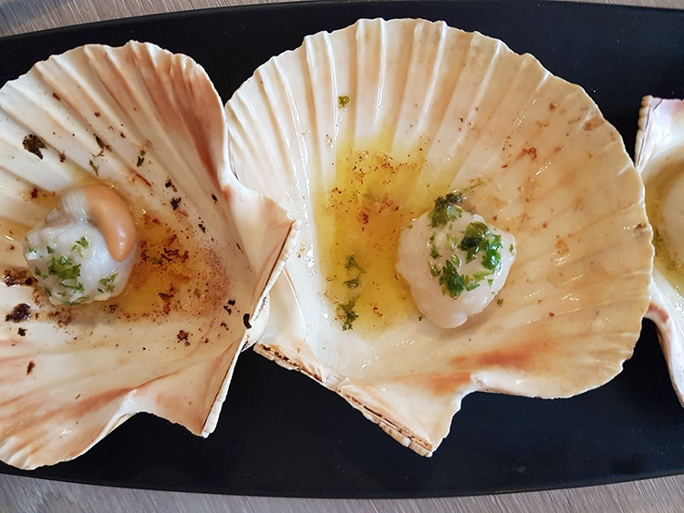 dinner review, starter, scallops, Brighton restaurant, The Jetty