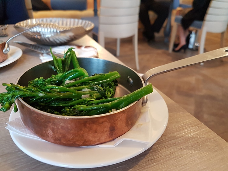 side dish, vegetables, dinner review, Brighton restaurant, The Jetty