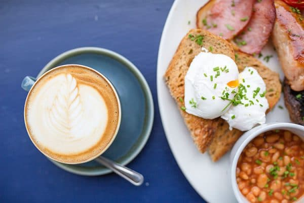 Cafes Near Me, Full English breakfast with a coffee at Starfish and Coffee, Best Cafés in Brighton, breakfast, brunch