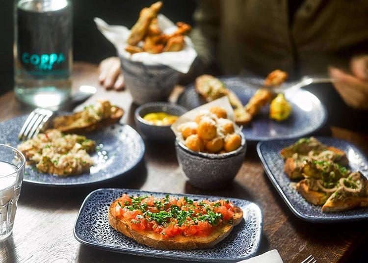 Tapas small plates food at Coppa bar & restaurant