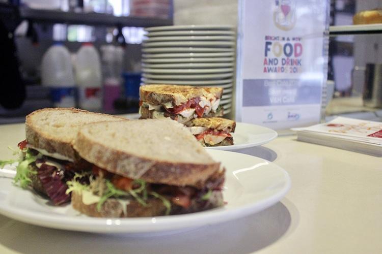 sandwich at V&H cafe in Hove