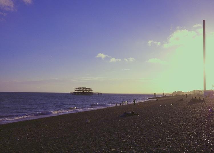 Lucky Beach, evening review, alfresco, Brighton beach, seafront, pier, i360
