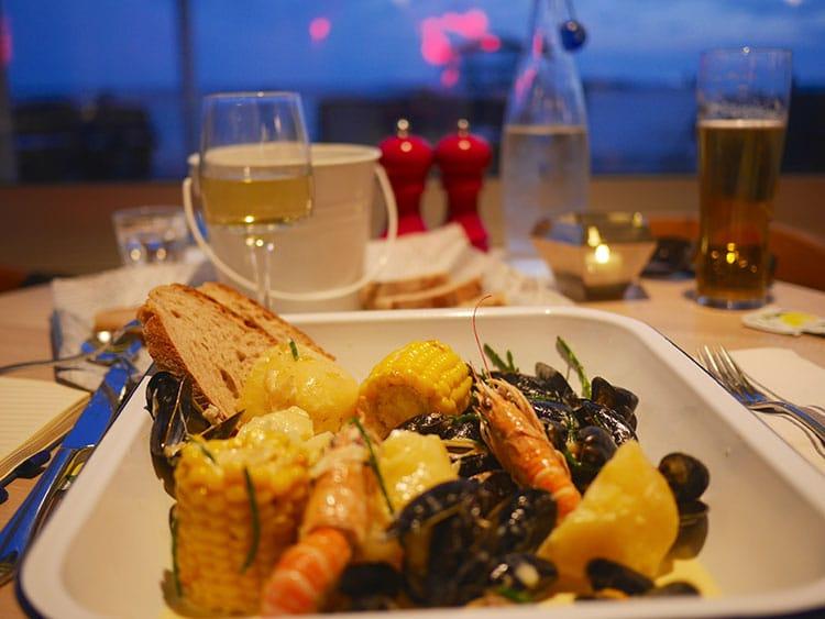 seafood bucket at West Beach Bar & Kitchen