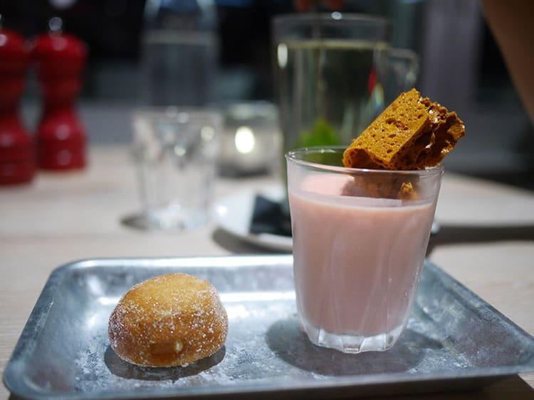 dessert at West Beach Bar & Kitchen on Brighton beach