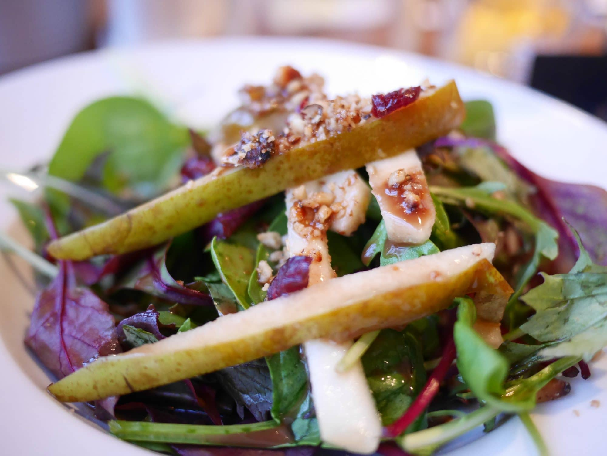 Pear salad at The Copper Clam in Brighton - - Copper Clam Brighton Review