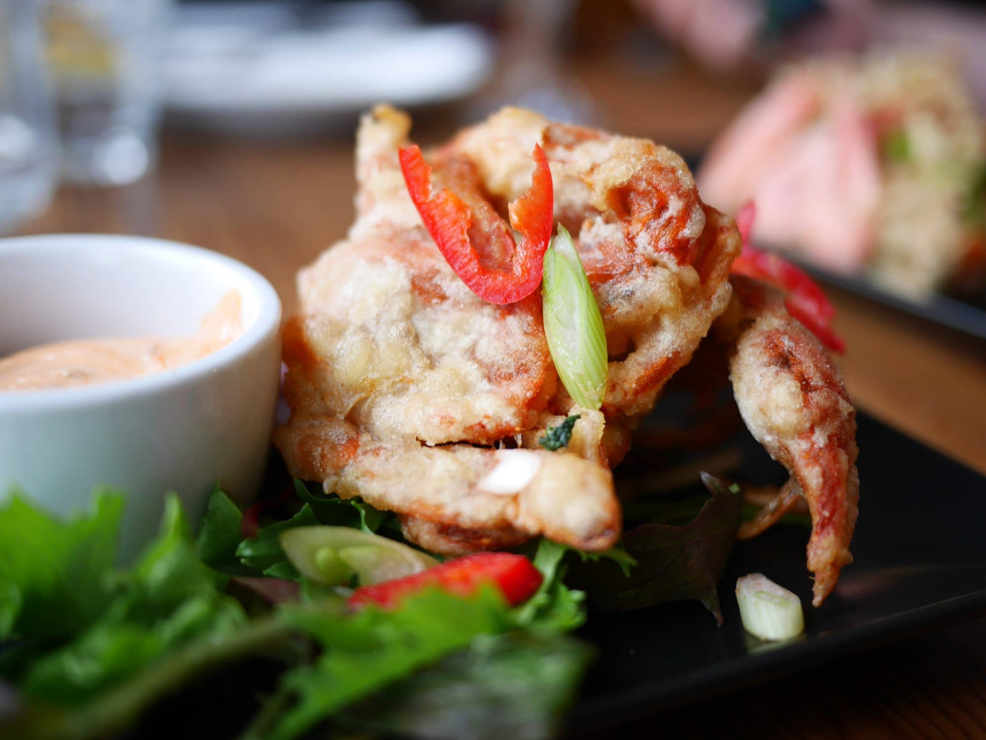 Soft shell tempura crab at The Copper Clam in Brighton - Copper Clam Brighton Review