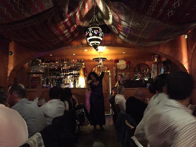 Restaurants with Entertainment, lady dancing at Brighton restaurant