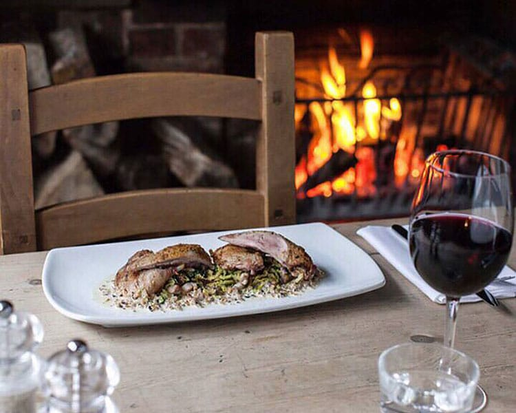 pubs with fires, food, wine & fire at Sussex pub