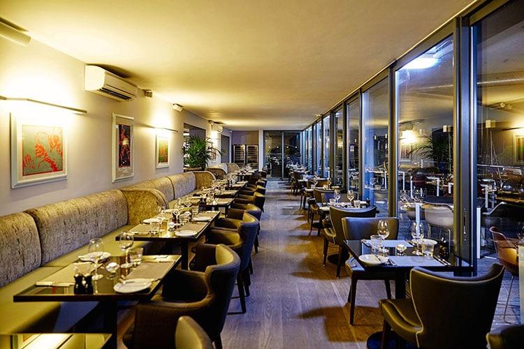 Hotel Restaurants Brighton, Chez Mal interior at Malmaison