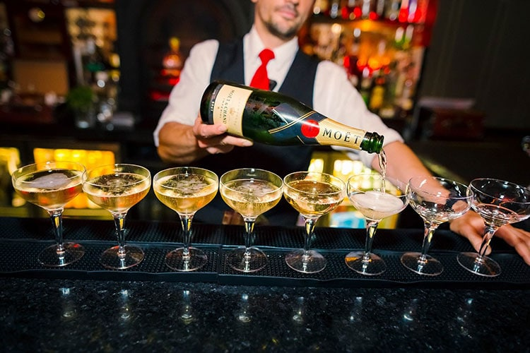 Restaurants with Entertainment, pouring drinks at the bar, Bohemia Brighton
