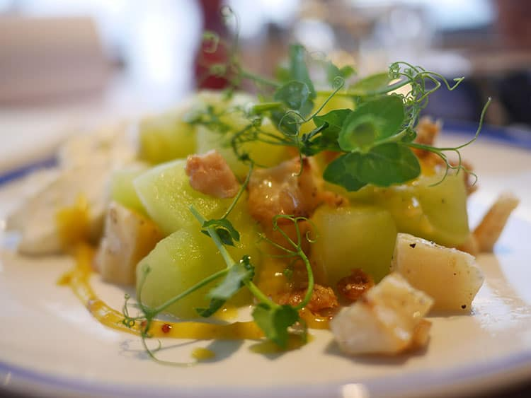 celeriac starter at West Beach Bar & Kitchen, Brighton