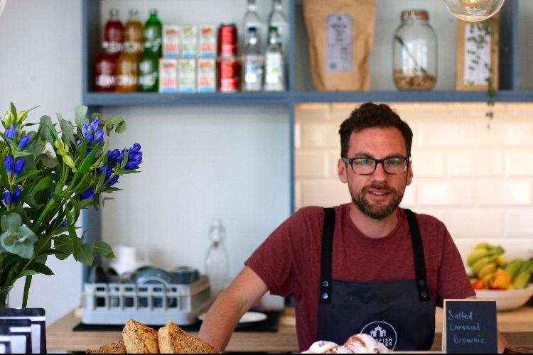 Owner, Tony at Starfish and Coffee, Brighton